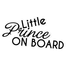 LITTLE PRINCE ON BOARD STICKER Decal Car Vinyl Sign Window Cute #6270EN