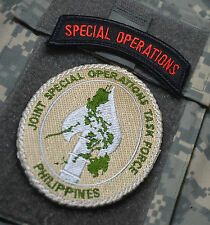 JOINT SPECIAL OPS TASK FORCE PHILIPPINES JSOTF-P DD hook/loop SSI + SP OPS TAB