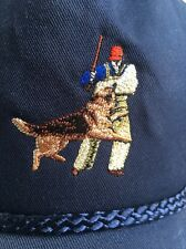 Dog And Trainer Image Blue Cotton Cap