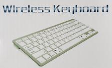 Mini Kabellose Bluetooth Tastatur Silber fur Smartphones Tablets iOS Android Win