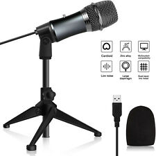 USB Condenser Microphone Mic w/ Stand For Game Chat Audio Recording Computer US