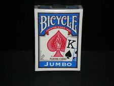 Bicycle Standard Size Jumbo Face Index Blue Deck Rider Back Playing Cards Games