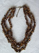 Eye Nuggets Necklace Chunky Triple Tiger