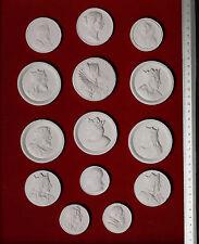 #2. 14 BIG Grand Tour Cameos plaster intaglio Gems Medallions seals Impronte