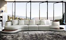 Rundsofa Designer Ecksofa Sofa Couch Polster Leder Garnitur Wohnlandschaft Royal