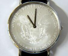 NEW Gents CROTON STERLING SILVER DOLLAR WATCH COIN WATCH