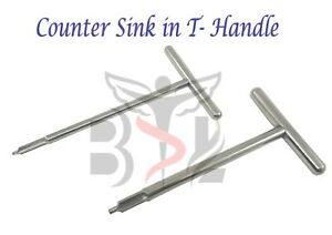Orthopedic Counter Sink in T Handle Surgical Instruments SS