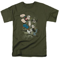Popeye THREE PART PUNCH Licensed Adult T-Shirt All Sizes