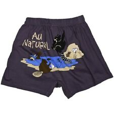 "Lazy One Mens Comical Novelty Boxer Shorts ""AU NATURAL"" - Size Medium - NEW"