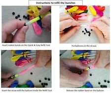 Water Balloons Refill Pack 120 Water Balloons+120 Rubber Bands+1 Refill Tools @