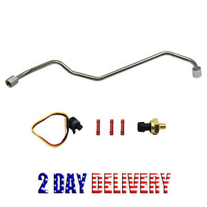 New Exhaust Back Pressure EBP Tube Sensor+Wire For Ford 7.3L Powerstroke Diesel