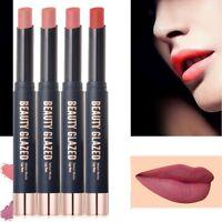 BEAUTY GLAZED Waterproof Long Lasting Matte Lipstick Gloss Makeup Cosmetic