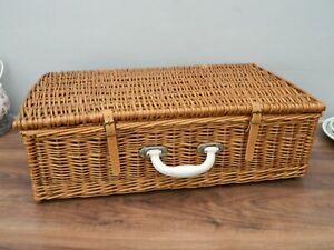 Sirram vintage wicker hamper   basket