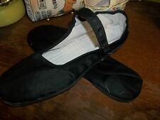 BLACK MARY JANE CHINESE SHOES SLIPPERS COTTON LINING BLACK RUBBER SOLE 39