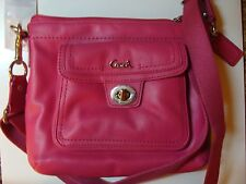 NEW COACH PINK LEATHER SWINGPACK F45012