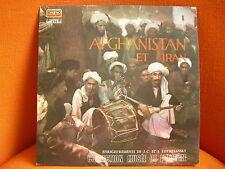 VINYL 33T – AFGHANISTAN & IRAN 1956 – MUSIQUE DU MONDE – COLL MUSEE DE L'HOMME