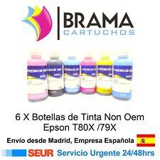 6 Botellas de tinta de 100ml Non Oem Epson Stylus photo PX650 PX700W PX710W