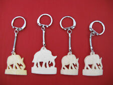 1 Egyptian Camel Bone Keychain Hand Carved Elephant