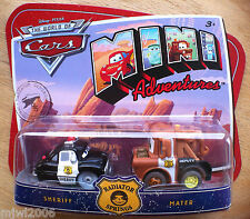 Disney PIXAR World of Cars MINI ADVENTURES Radiator Springs SHERIFF & MATER