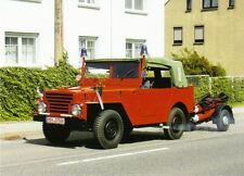 Ansichtskarte: historischer PKW Horch P2M Feuerwehr mit Anhänger, DDR-Oldtimer