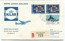 FFC 1966 Royal Dutch Airlines First Flight DC 8 Zurich Kano Nigeria REGISTERED