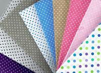 Fat Quarter ~ Spots & DOTS 100% Cotton Fabric Quilting Patchwork Applique Crafts