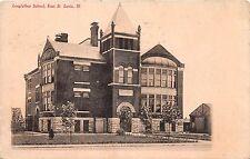 Illinois postcard East St. Louis, Longfellow School ca 1908