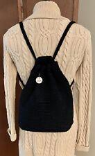 The Sak Black Backpack Crochet Knit