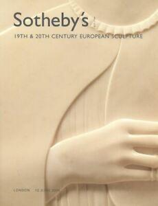 Sotheby's Catalogue 19th & 20th Century European Sculpture 2006 HB