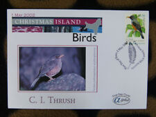 SCARCE ALPHA FIRST DAY COVER - 2002 CHRISTMAS ISLAND BIRDS. THRUSH