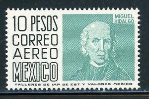 MEXICO MNH Selections: Scott #C297 10P Miguel Hidalgo WMK350 PERF 14 CV$35+