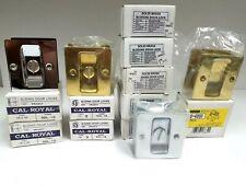 Cal Royal Sliding Door Locks Lot of 10 Brass and Chrome Sdl-16 Sdl40 Contractor