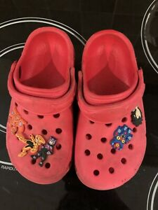 Kids Croc Shoes Size 29 Red Anime 7.5