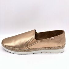 Skechers Bobs Womens Loafers Shoes Flexpadrille 3.0 Gold 33322 Leather 9.5