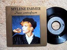 "MYLENE FARMER 45T 7"" Sans contrefaçon/La ronde triste Fr 1987 Polydor 887.195-7"