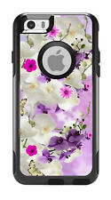 Skin Decal Wrap for Iphone 6 6S Plus Otterbox Commuter Case White Pink FLowers