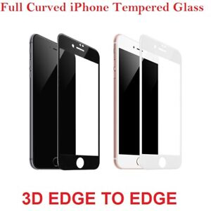 3D Full Cover Tempered Glass Screen Protector Film For iPhone 6 7 8 Plus X XS 11