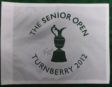Fred COUPLES SIGNED AUTOGRAPH AFTAL COA 2012 Seniors Open TURNBERRY Golf Flag