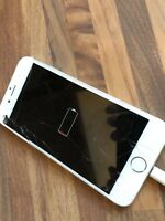 Apple iPhone 6 16GB Gold Unlocked Phone NO CHARGING SMASHED SCREEN SPARES REPAIR
