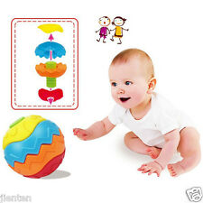 1X Baby Colorful Ball Bell Soft Hand Grasp Sense Educational Toys Games For Kids