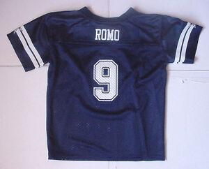 NWT Tony Romo 9 Jersey Toddler Boys Dallas Cowboys MESH Navy Blue Sz 2T 3T