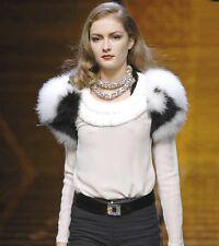 VALENTINO Black White Maribou Feather Jacket Shrug  S