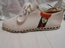 Excellent Cond White On White W/Green/Red Accents Men's Fashion Sneakers 11.5