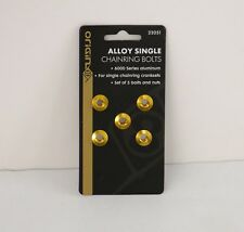 ORIGIN8 SINGLE-RING ALLOY CHAINRING BOLTS GOLD SET OF 5 NEW