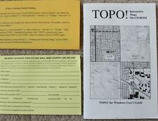 TOPO! INTERACTIVE MAPS for Windows User's Guide (manual instruction booklet)