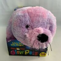 Pillow Pets Glow Pets Plush 17 Pillow Stuffed Seal With Led Lights Ebay