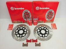 Brembo Bremsscheiben Bremsbeläge Bremse vorne komplett Suzuki GSXR 600 750 1000