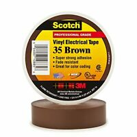 Scotch 35 Color Coding Tape, 3/4 in. x 66 ft. Brown
