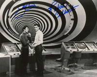 JAMES DARREN ROBERT COLBERT DUAL SIGNED 8x10 PHOTO THE TIME TUNNEL BECKETT BAS