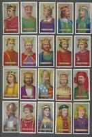 1935 Carreras Kings & Queens of England Tobacco Cards Complete Set of 50